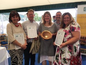 Award ceremony at the CLA and New Forest National Park Authority Awards 2016.