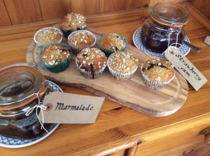 The Maples Guest House Banana and Blueberry Muffin Recipe